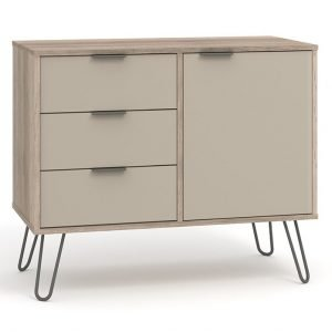 AGD915 small sideboard with 1 doors, 3 drawers - IWFurniture