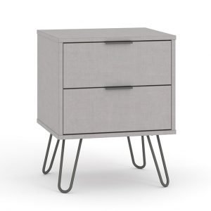 AGG510 2 drawer bedside cabinet - IWFurniture