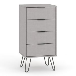 AGG517 4 drawer narrow chest of drawers - IWFurniture