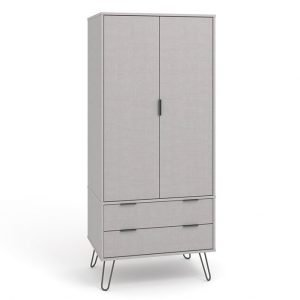 AGG582 2 door 2 drawer wardrobe - IWFurniture