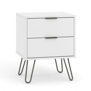 AGW510 2 drawer bedside cabinet - IWFurniture