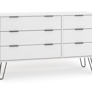 AGW533 6 drawer wide chest of drawers - IWFurniture