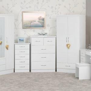 Nevada White Bedroom Furniture