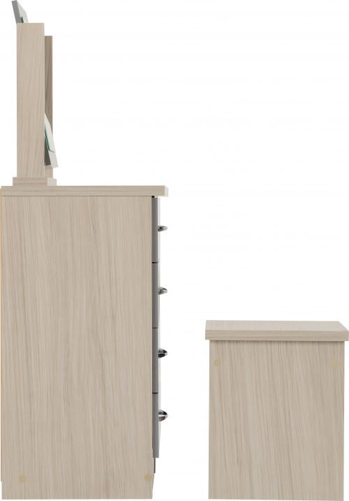 NEVADA DRESSING TABLE SET GREY GLOSSLIGHT OAK EFFECT VENEER 2019 04 100 105 016 scaled