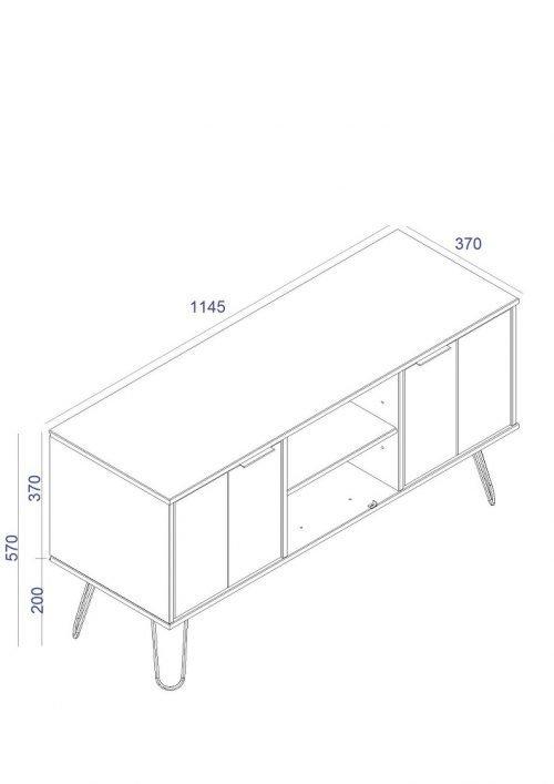 Augusta 2 Door Flat Screen TV Unit in White - IW Furniture