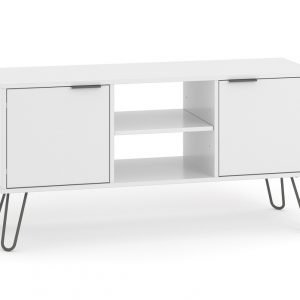 Augusta 2 Door Flat Screen TV Unit in White - IW Furniture