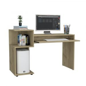 Brooklyn Desk with Low Shelves - IW Furniture