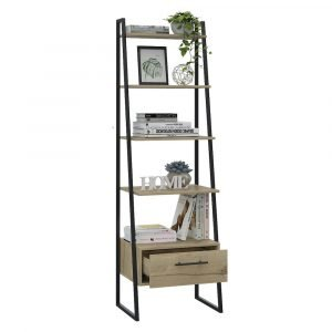 Brooklyn Ladder Bookcase with Drawer - IW Furniture