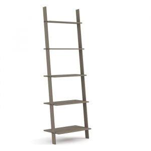 Grey Ladder Design Tall Bookcase Shelf Unit - IW Furniture
