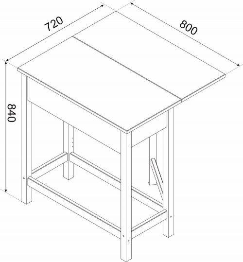 Corona White Breakfast Drop Leaf Table & 2 Stools Set - IW Furniture