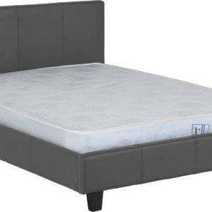 Prado 4' Bed Grey Faux Leather